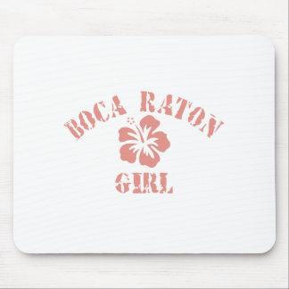 Chica rosado de Boca Raton Alfombrilla De Raton