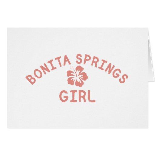 Chica rosado de Bonita Springs Tarjeta De Felicitación