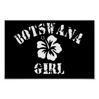 Chica rosado de Botswana Impresiones