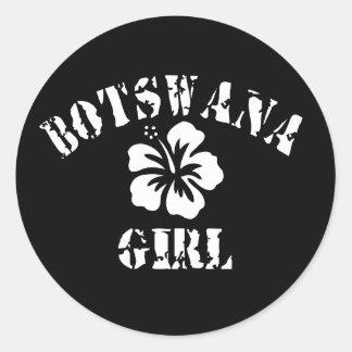 Chica rosado de Botswana Etiquetas Redondas