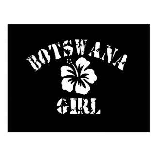 Chica rosado de Botswana Tarjeta Postal
