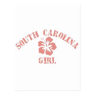 Chica rosado de Carolina del Sur Postales