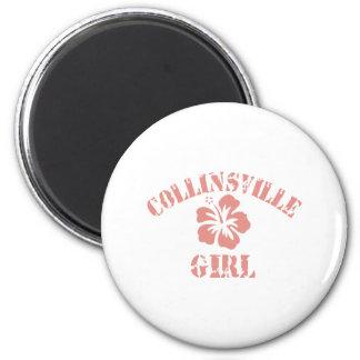 Chica rosado de Collinsville Imanes Para Frigoríficos
