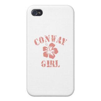 Chica rosado de Conway iPhone 4 Carcasa