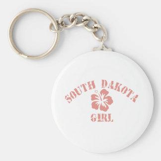 Chica rosado de Dakota del Sur Llavero Personalizado