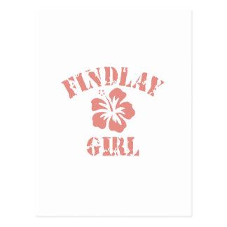 Chica rosado de Findlay Postal
