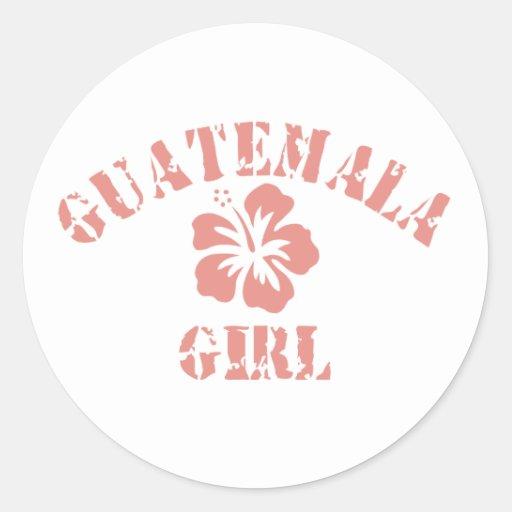 Chica rosado de Guatemala Pegatinas