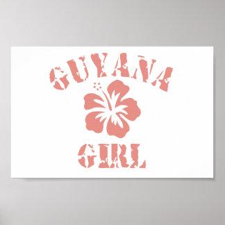 Chica rosado de Guyana Póster