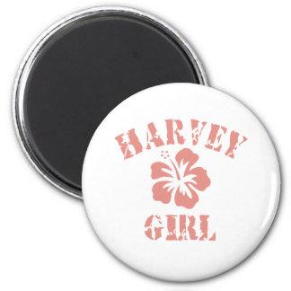 Chica rosado de Harvey Imanes De Nevera