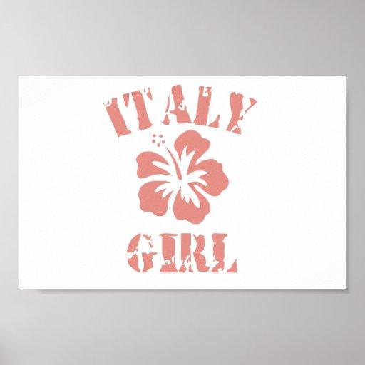 Chica rosado de Italia Posters