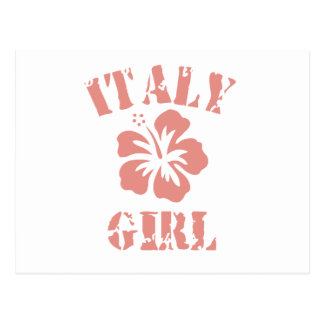 Chica rosado de Italia Postales