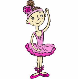 Chica rosado de la bailarina esculturas fotograficas