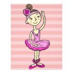 Chica rosado de la bailarina tarjetones