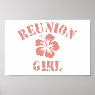 Chica rosado de la reunión poster