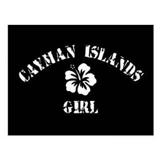 Chica rosado de las Islas Caimán Tarjetas Postales