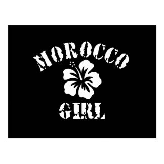 Chica rosado de Marruecos Tarjetas Postales