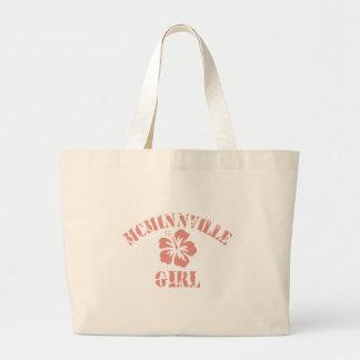 Chica rosado de Mcminnville Bolsa Lienzo