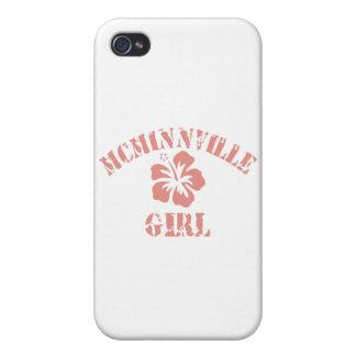 Chica rosado de Mcminnville iPhone 4 Protectores