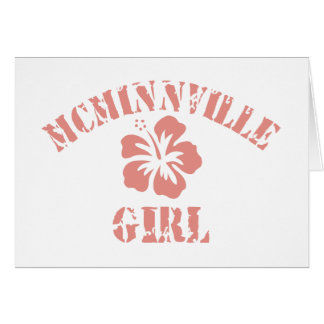 Chica rosado de Mcminnville Tarjeta De Felicitación