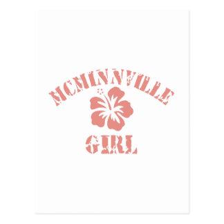 Chica rosado de Mcminnville Postal