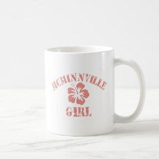 Chica rosado de Mcminnville Taza Básica Blanca