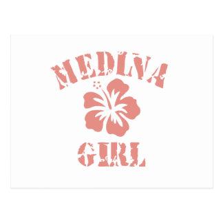 Chica rosado de Medina Postal