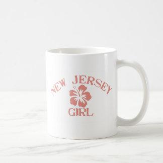 Chica rosado de New Jersey Taza De Café