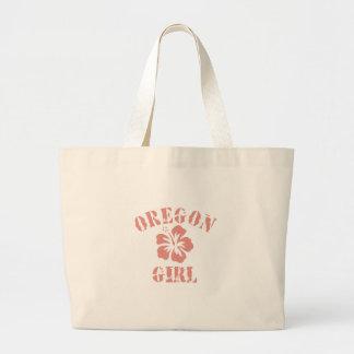 Chica rosado de Oregon Bolsas Lienzo