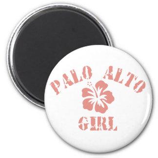 Chica rosado de Palo Alto Imán Redondo 5 Cm