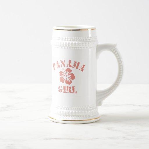 Chica rosado de Panamá Tazas De Café