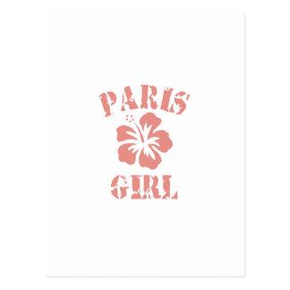Chica rosado de París Postal