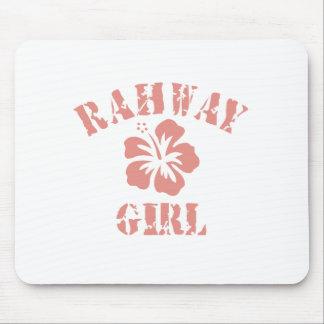 Chica rosado de Rahway Alfombrilla De Ratón