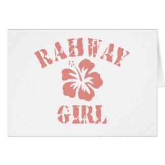 Chica rosado de Rahway Tarjeta De Felicitación
