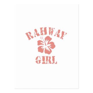 Chica rosado de Rahway Postales