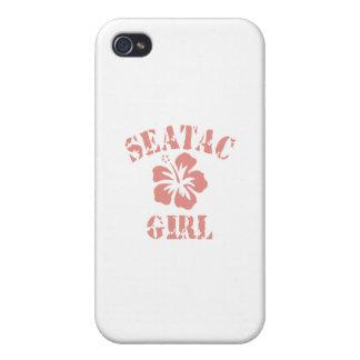 Chica rosado de Seatac iPhone 4 Carcasas