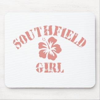 Chica rosado de Southfield Alfombrilla De Ratón