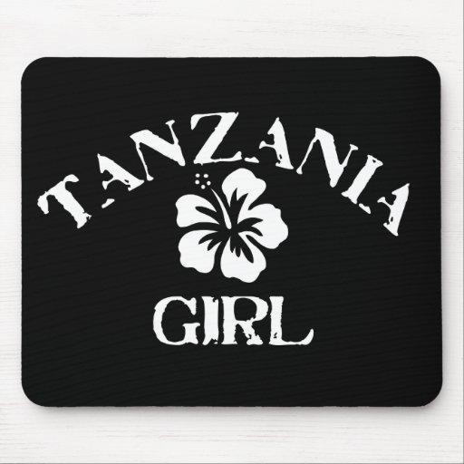 Chica rosado de Tanzania Alfombrilla De Ratones