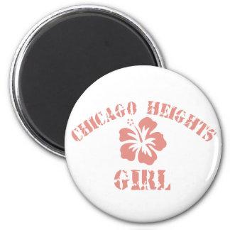 Chica rosado del Chicago Heights Imán Para Frigorifico