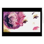 Chica rosado del diamante color de rosa, tarjeta d