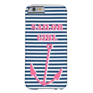 Chica rosado del marinero del caso el   del iPhone Funda De iPhone 6 Barely There