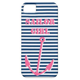 Chica rosado del marinero del caso el   del iPhone iPhone 5 Fundas