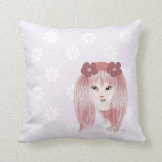 Chica rosado dulce de Kawaii Almohadas