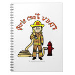 Chica rubio del bombero libretas