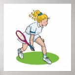Chica rubio del tenis posters
