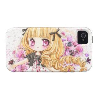 Chica rubio hermoso del animado - caso de Iphone4/ iPhone 4/4S Carcasas