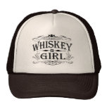 Chica rústico del whisky gorros bordados