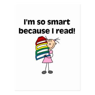 Chica Smart porque leí las camisetas y los regalos Postal