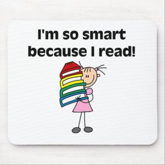 Chica Smart porque leí Alfombrillas De Raton