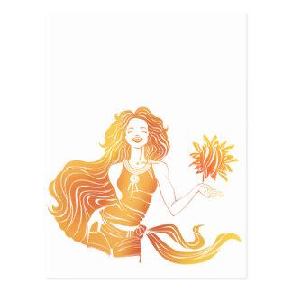 Chica soleado postal
