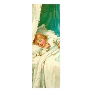 Chica soñoliento tarjetas de visita mini